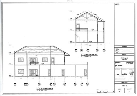 GAMBAR KERJA 2D | Arsitek Rumah + Desain Interior RP 2.500 PERM2